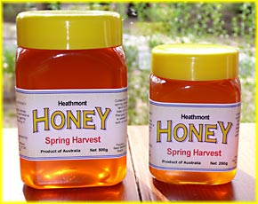 500 and 250 gram honey jars