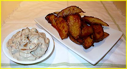 Potato Wedges and Onion Dip